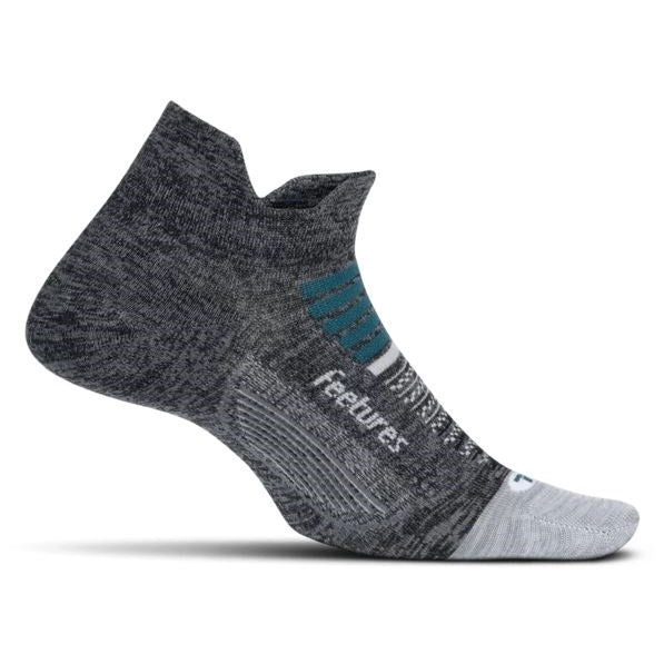 Feetures Elite Light Cushion No Show Tab Socks - Asteroid Gray