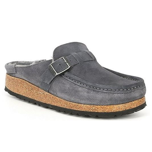 Women's Birkenstock Buckley Shearling Suede - Graphite