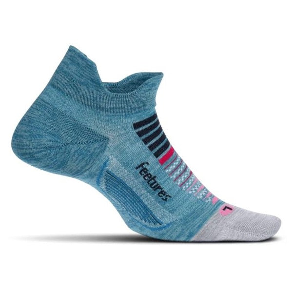 Feetures Elite Light Cushion No Show Tab Socks - Aurora Blue