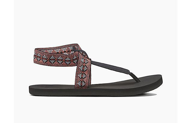 Women's Cushion Moon Prints Sandal - Black