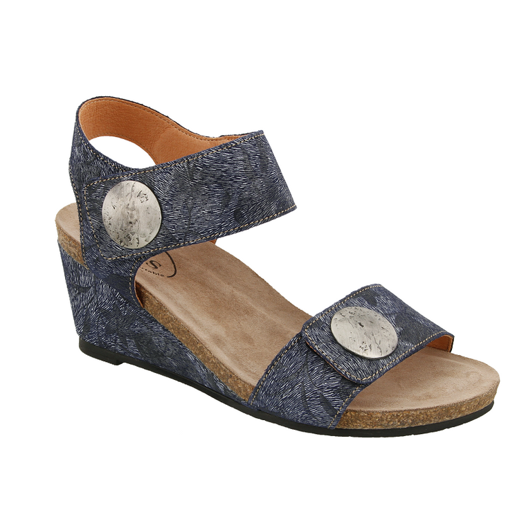 Women's Taos Carousel 2 Wedge Sandal in Blue Floral