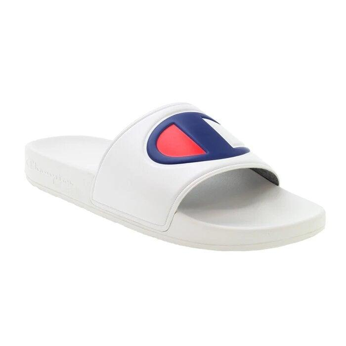 Champion Men's IPO Slide Sandal - White