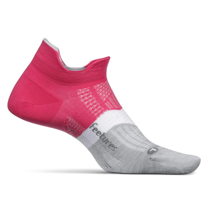 Feetures Elite Light Cushion No Show Tab - Fierce Magenta