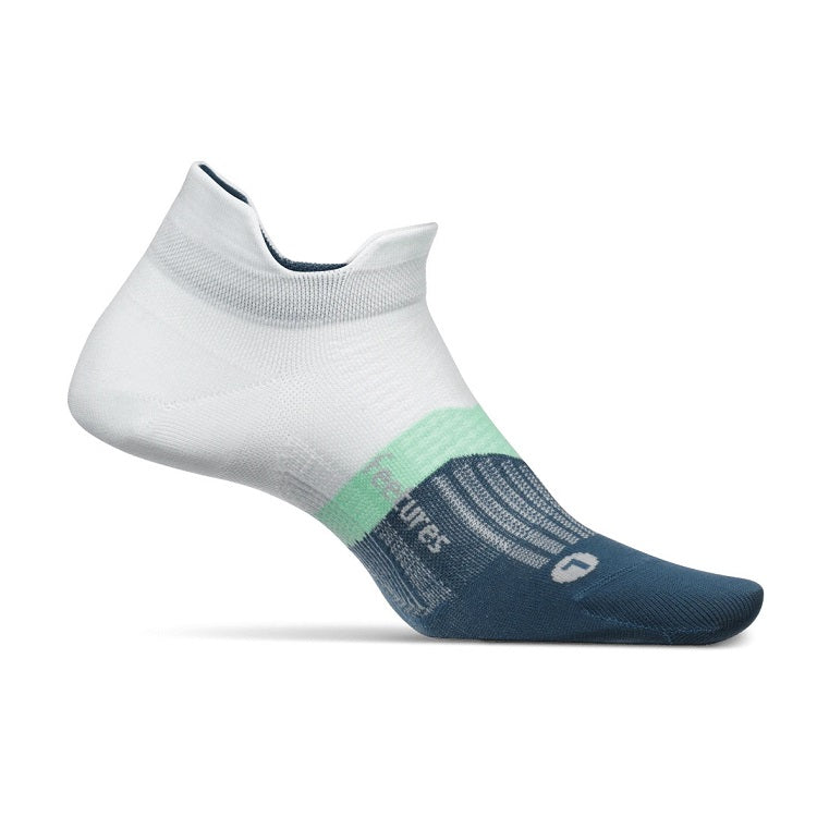 Feetures Elite Light Cushion No Show Tab - Morning Mist
