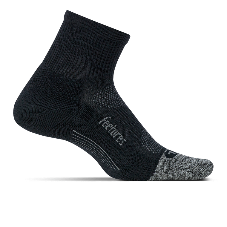 Feetures Elite Light Cushion Quarter Socks - Black