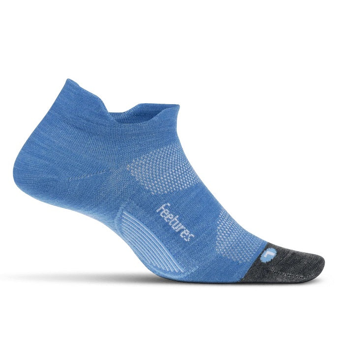 Feetures Merino 10 Cushion No Show Tab - Aurora Blue