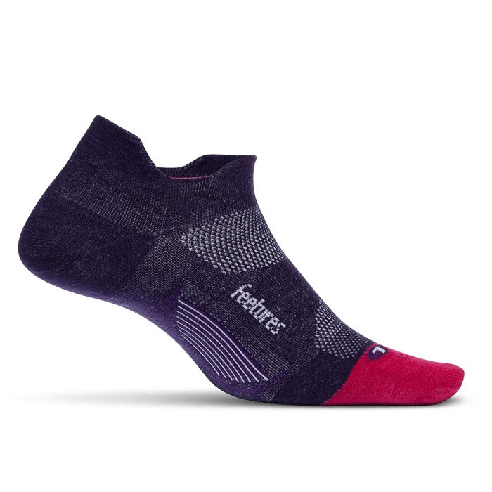 Feetures Merino 10 Cushion No Show Tab - Pulsar Purple