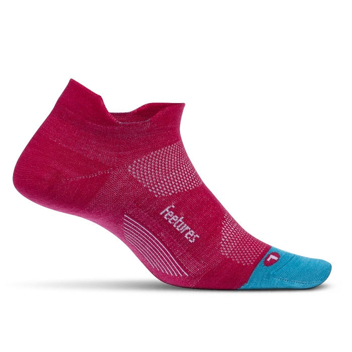 Feetures Merino 10 Cushion No Show Tab - Quasar Pink
