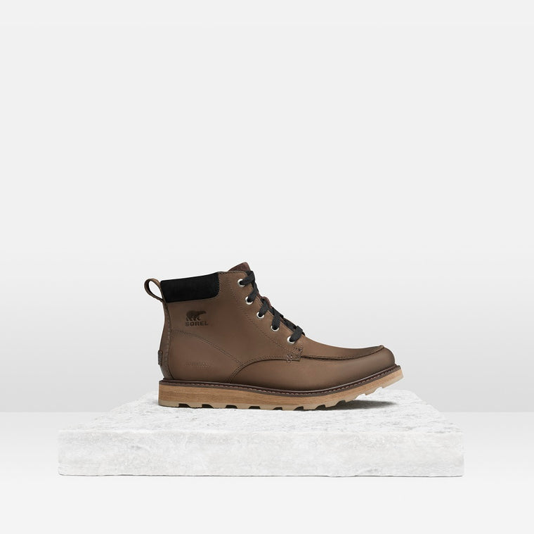Men's Sorel Madson Moc Toe Waterproof Boot - Bruno/Black