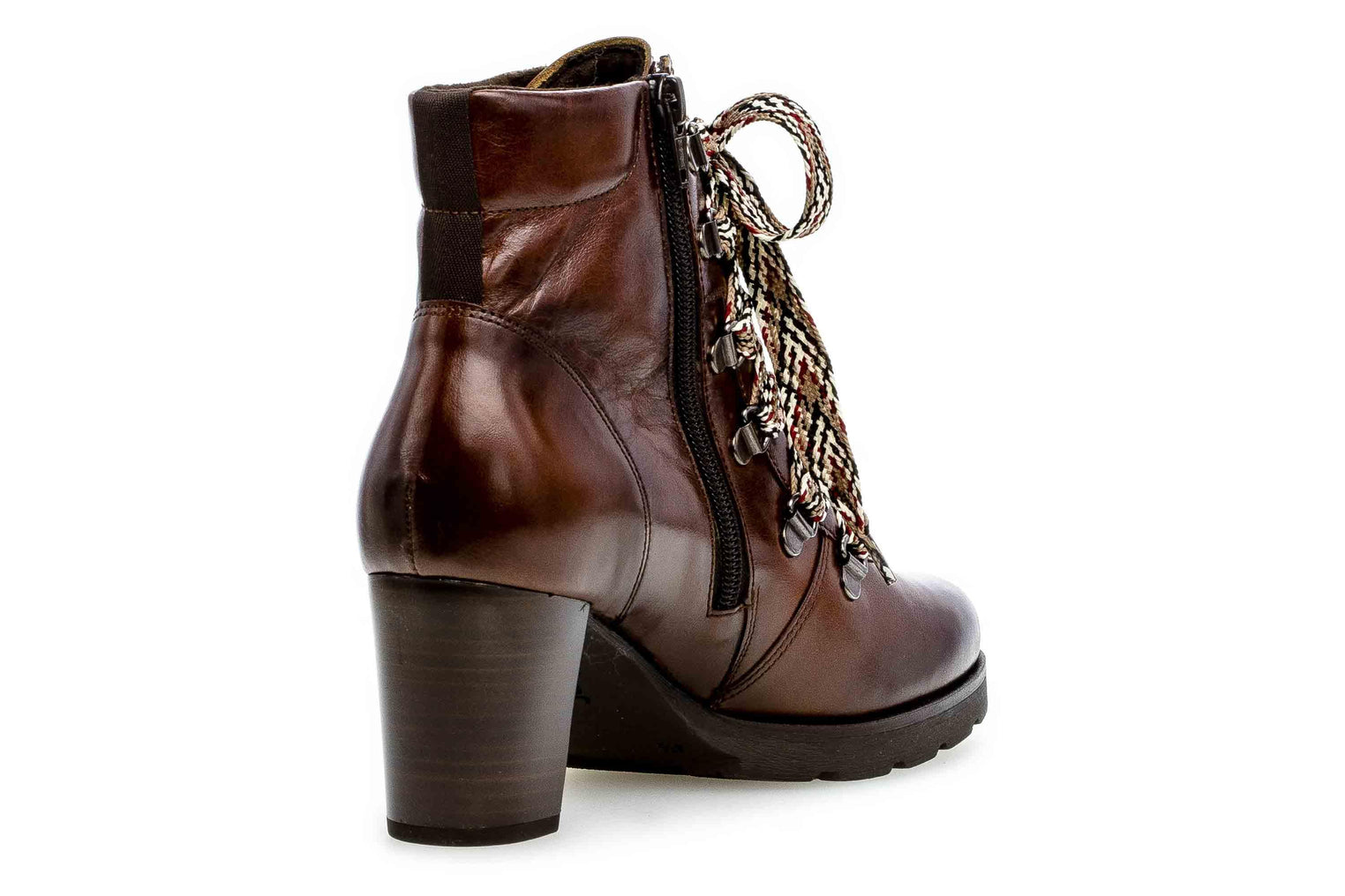 Heel Brown Boots 542 Leather Lace Up 35 Ankle 24 Gabor Women's DIYEHW29