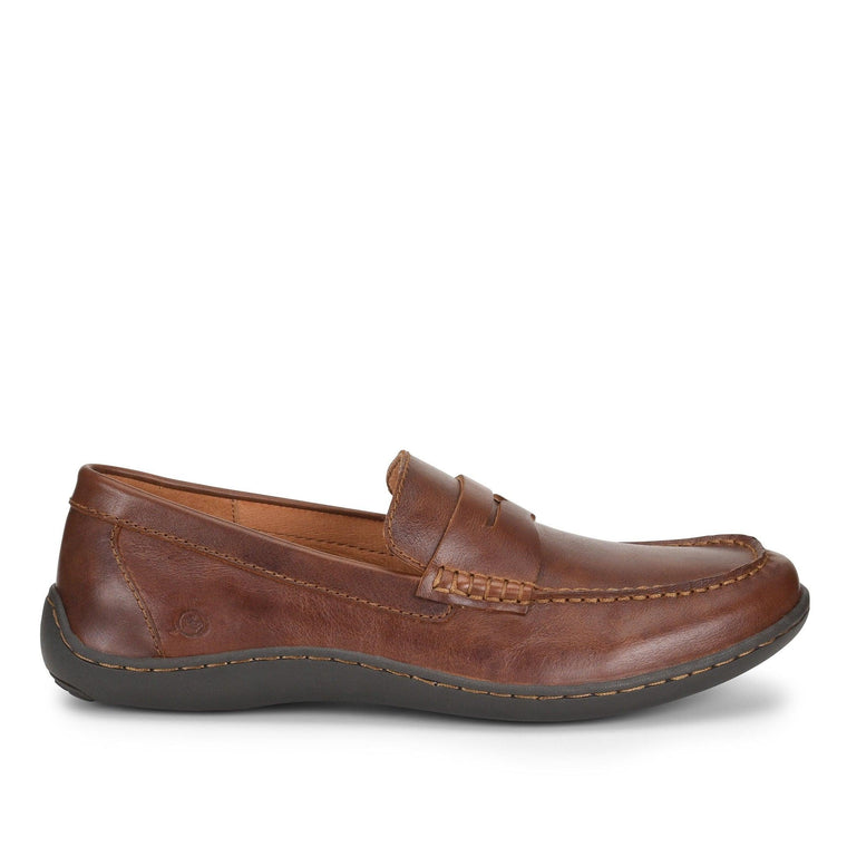 Born Men's Simon Leather Loafers - Tan (Cymbal)