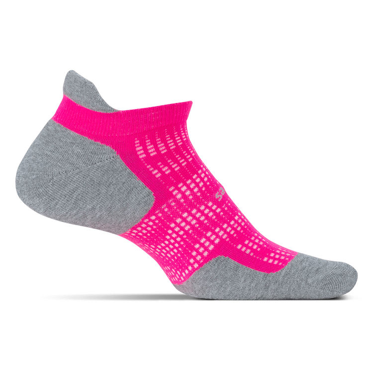 Feetures High Performance Ultra Light No Show Tab Socks - Pink Pop