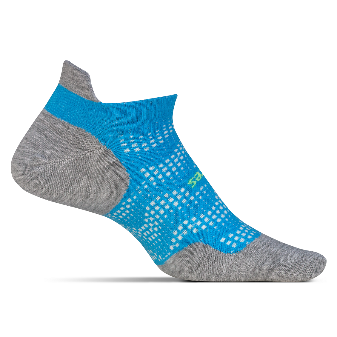 Feetures High Performance Ultra Light No Show Tab Socks - Tropical Blue