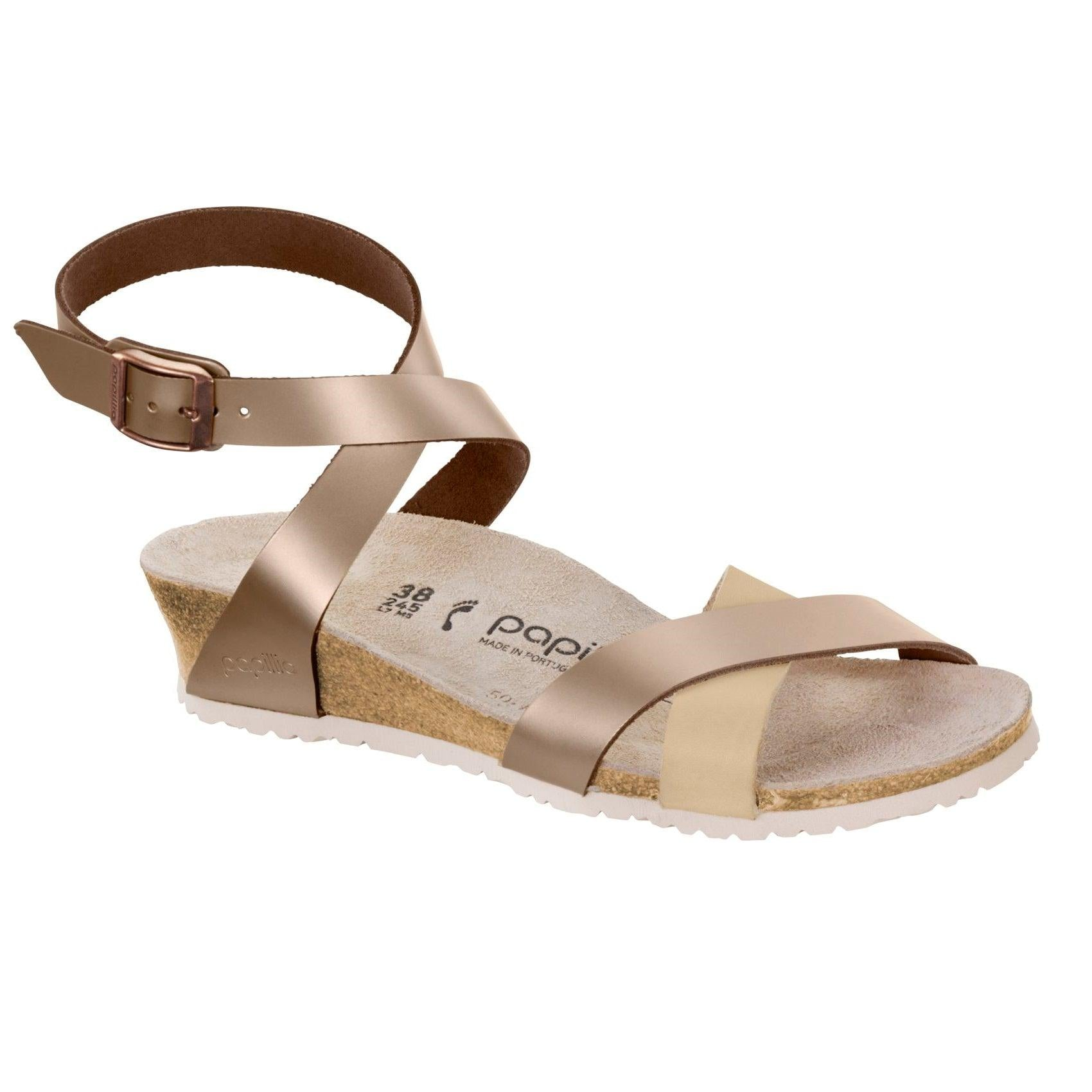 Women's Papillio Lola Wedge - Metallic Rose Leather