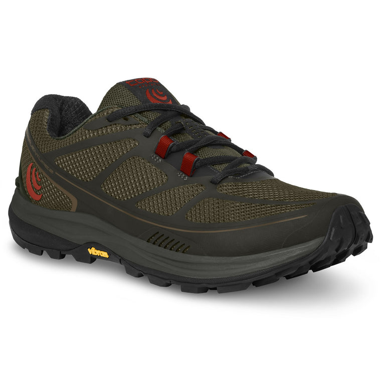 Men's Topo Athletic Terraventure 2 Trail Running Shoes - Olive/Red