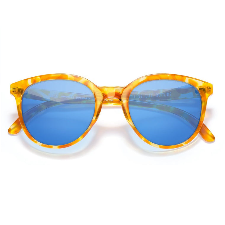 Sunski Makani Sunglasses - Blonde Tortoise Aqua