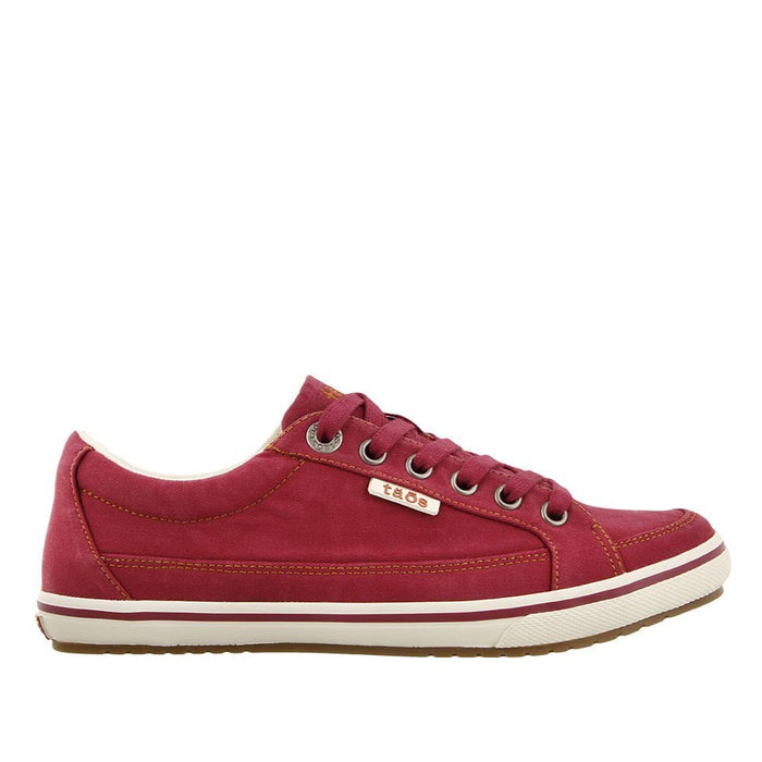 Taos Women's Moc Star Sneaker - Red Distressed