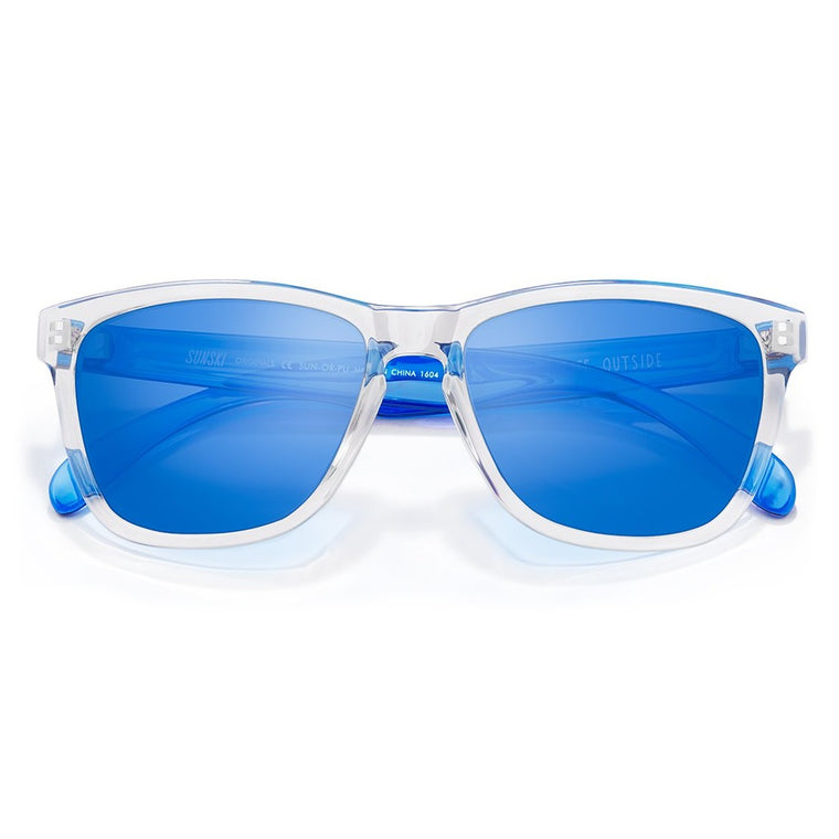 Sunski Original Sunglasses - Clear Blue