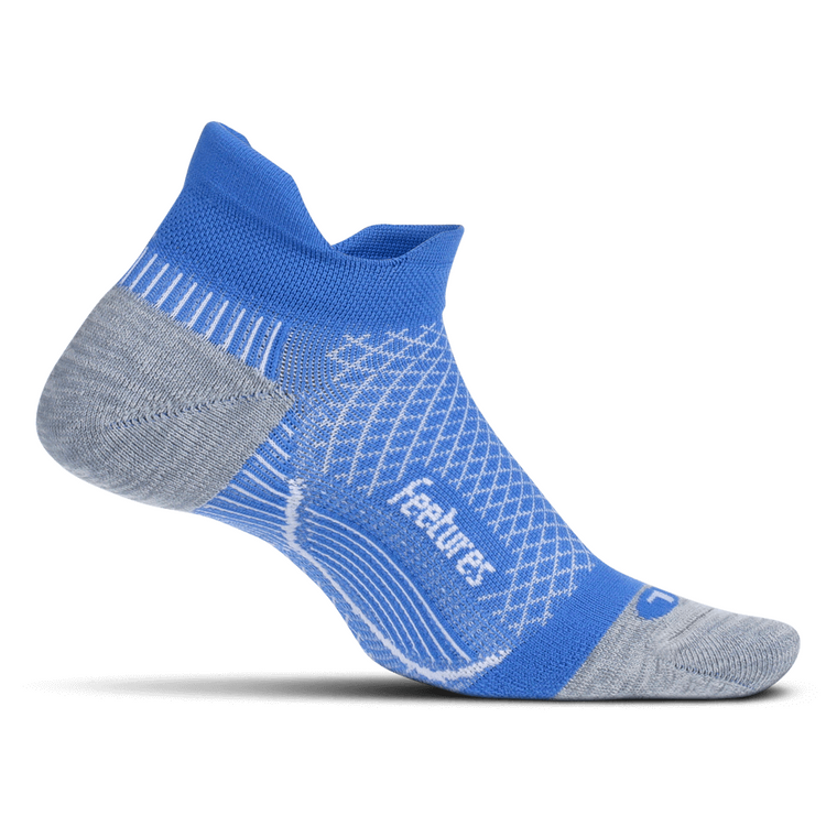 Feetures Plantar Fasciitis Relief Sock Light Cushion No Show Tab - True Blue