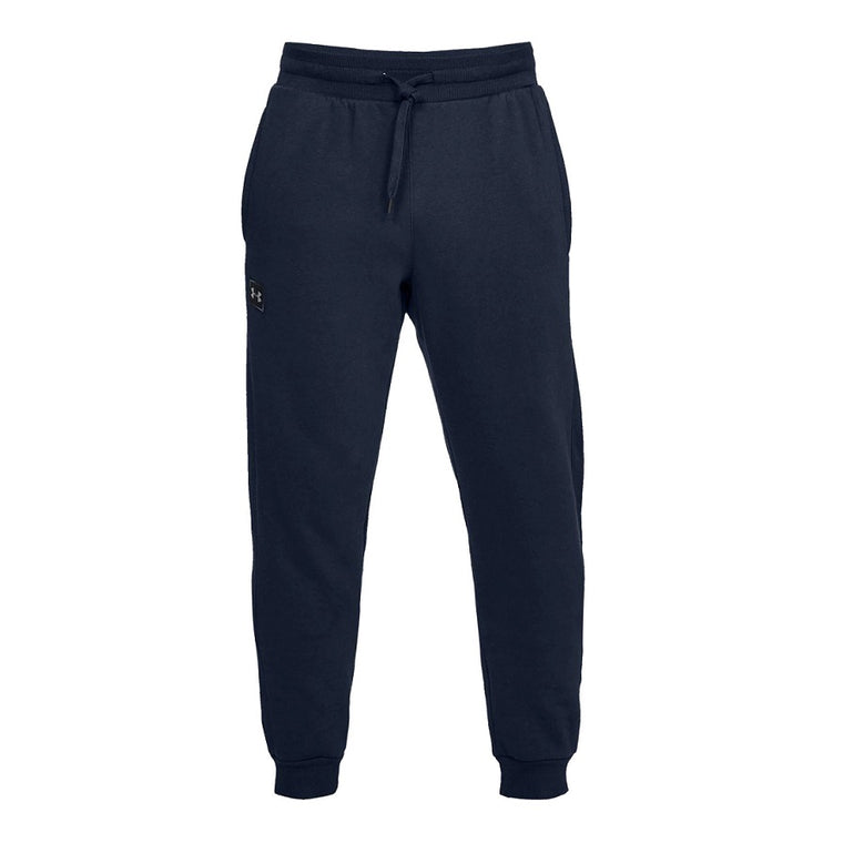Men's Under Armour UA Rival Fleece Joggers Pants & Sweatpants - Academy/Black