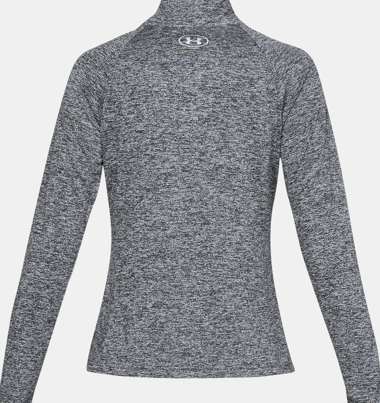 Under Armour Women's UA Tech Twist Full Zip - Black/White/Metallic Silver