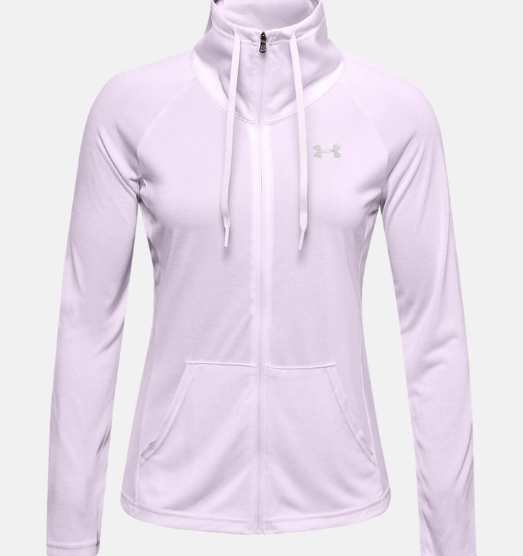 Under Armour Women's UA Tech Twist Full Zip - Crystal Lilac/Metallic Silver