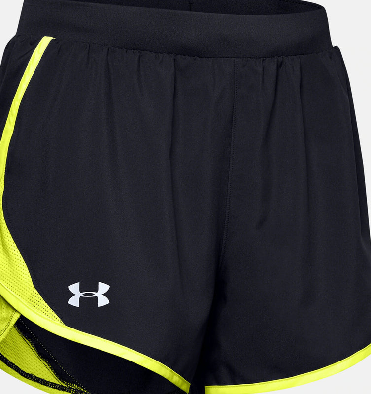 Under Armour Women's UA Fly-By 2.0 Shorts - Black/X-Ray/Reflective