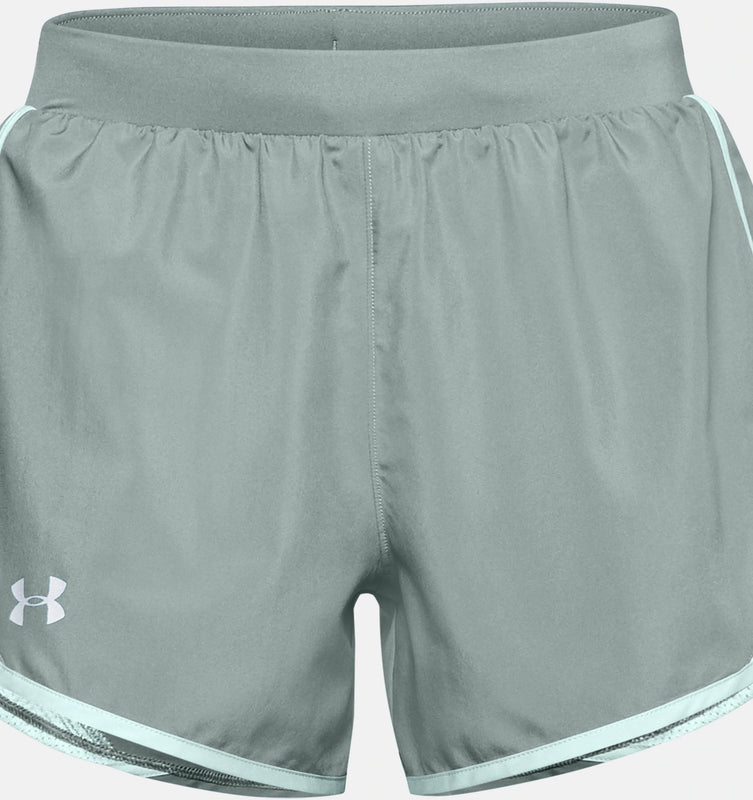 Under Armour Women's UA Fly-By 2.0 Shorts - Lichen Blue/Enamel Blue/Reflective