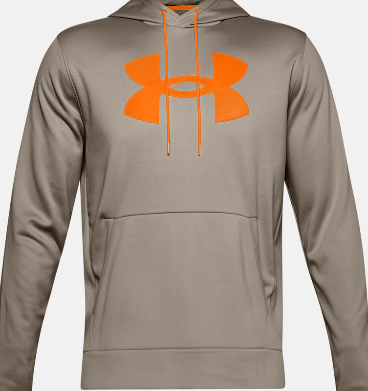 Under Armour Men's Armour Fleece Big Logo Hoodie - Highland Buff/Vibe Orange