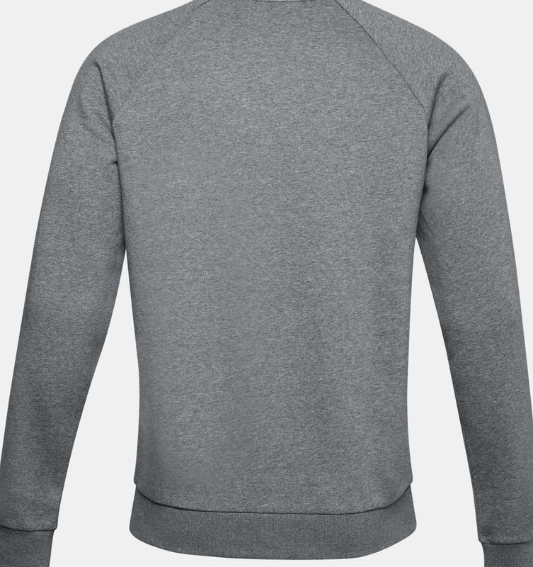 Under Armour Men's UA Rival Fleece Crew - Pitch Gray Light Heather/Onyx White