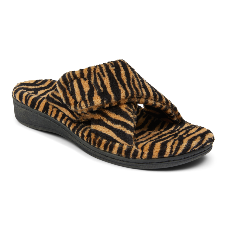 Vionic Women's Relax Slippers - Natural Tiger