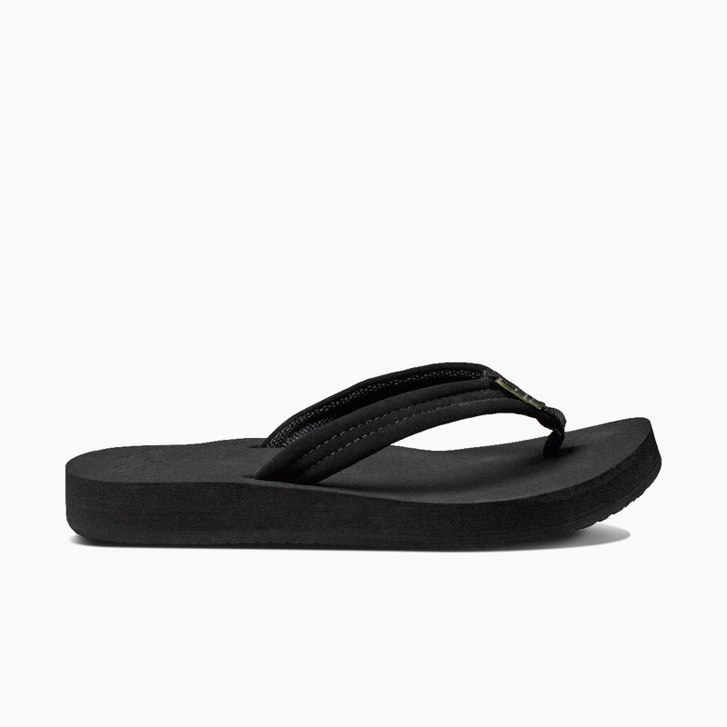 Reef Women's Cushion Breeze Flip Flops - Black/Black