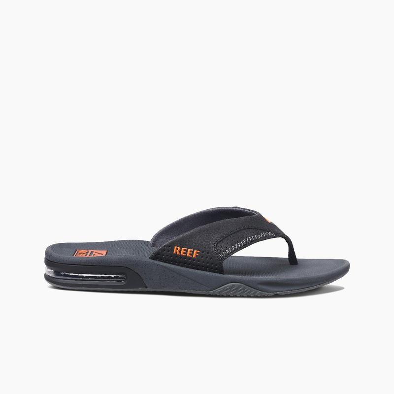 Reef Men's Fanning Bottle Opener Flip Flops - Neon Orange