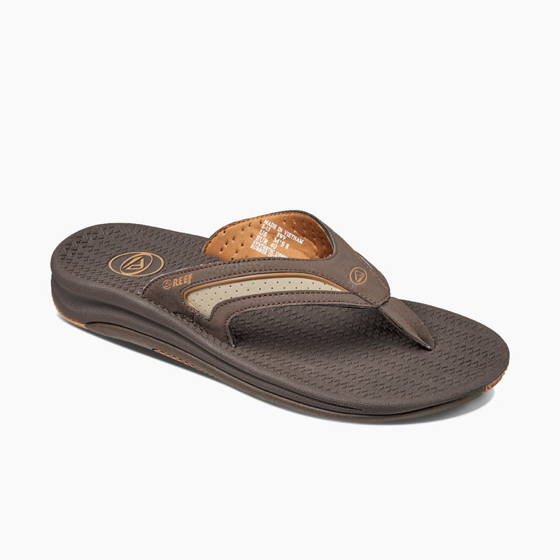 Reef Men's Flex Water-Resistant Flip Flops - Dark Brown/Tan