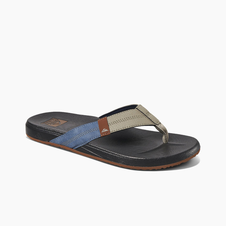 Reef Men's Cushion Phantom Flip Flops - Raven/Blue