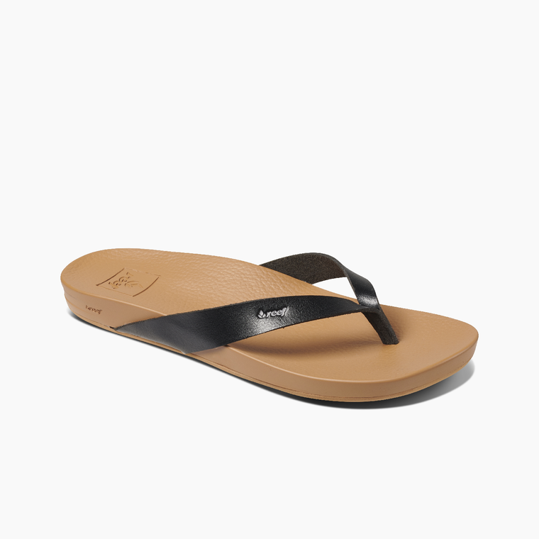 Reef Women's Cushion Bounce Court Flip Flops - Black/Natural