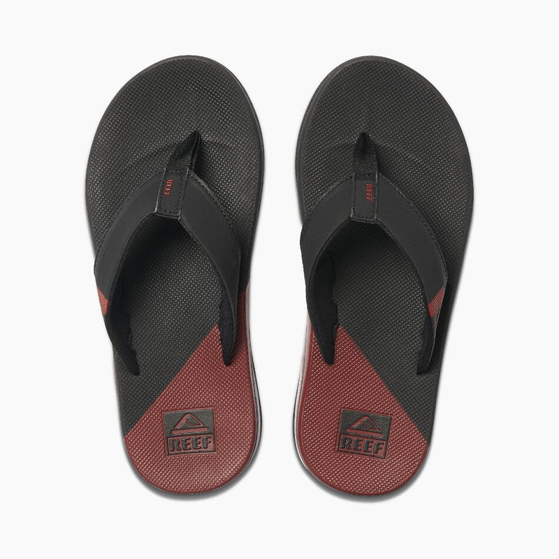 Reef Men's Fanning Low Flip Flops - Black/Rust