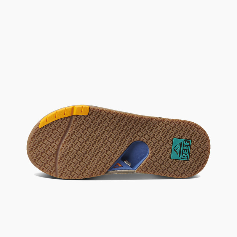 Reef Men's Fanning Low Sandal - Tan/Blue