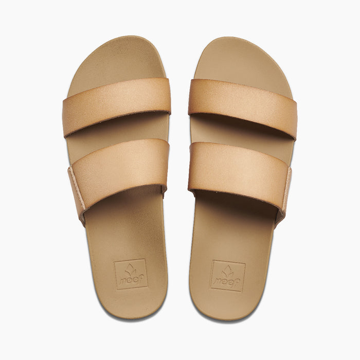 Reef Women's Cushion Vista Slide Sandals - Natural