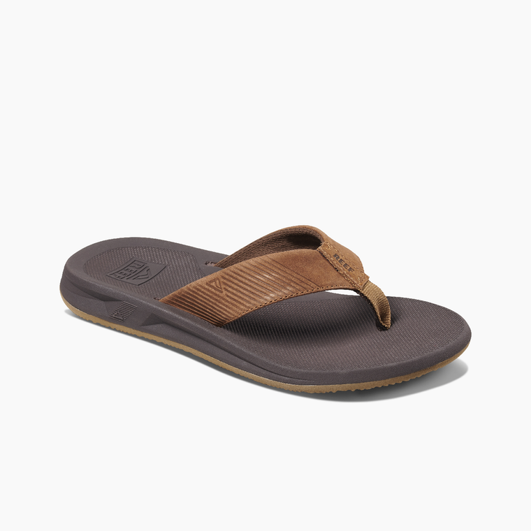 Reef Men's Leather Phantom II Flip Flop - Bronze