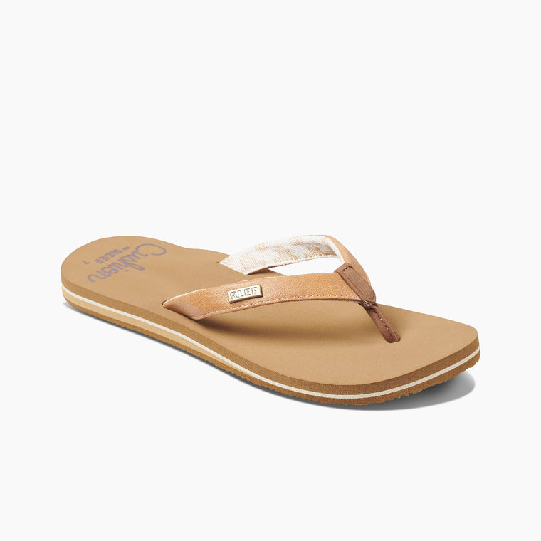 Reef Women's Cushion Sands Flip Flops - Natural