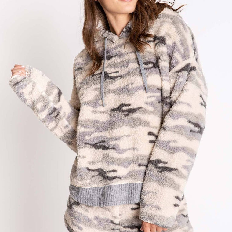 Women's PJ Salvage Cozy Items Hoody - Olive