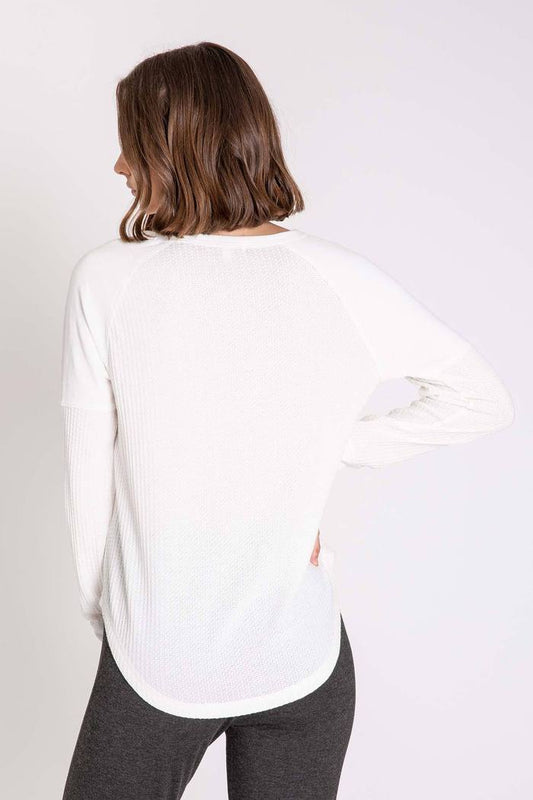 Women's PJ Salvage Thermal Basics Long Sleeve Top - Ivory