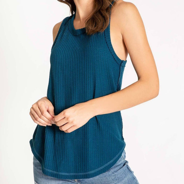 Women's PJ Salvage Thermal Basics Tank - Teal