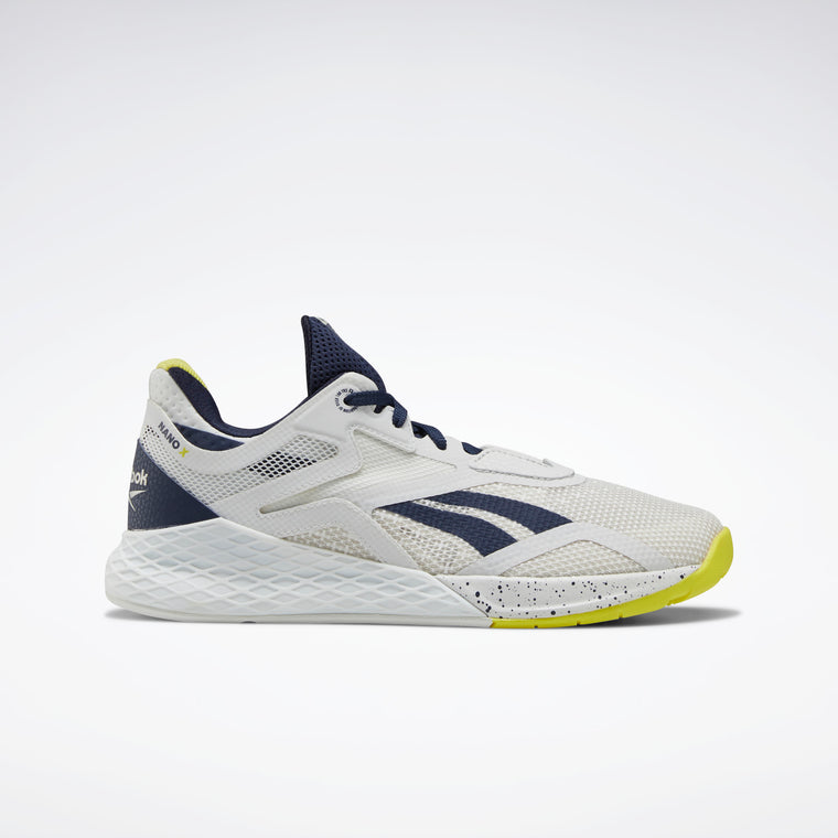 Reebok Women's Nano X Training Shoes - True Grey 1/Vector Navy/Chartreuse