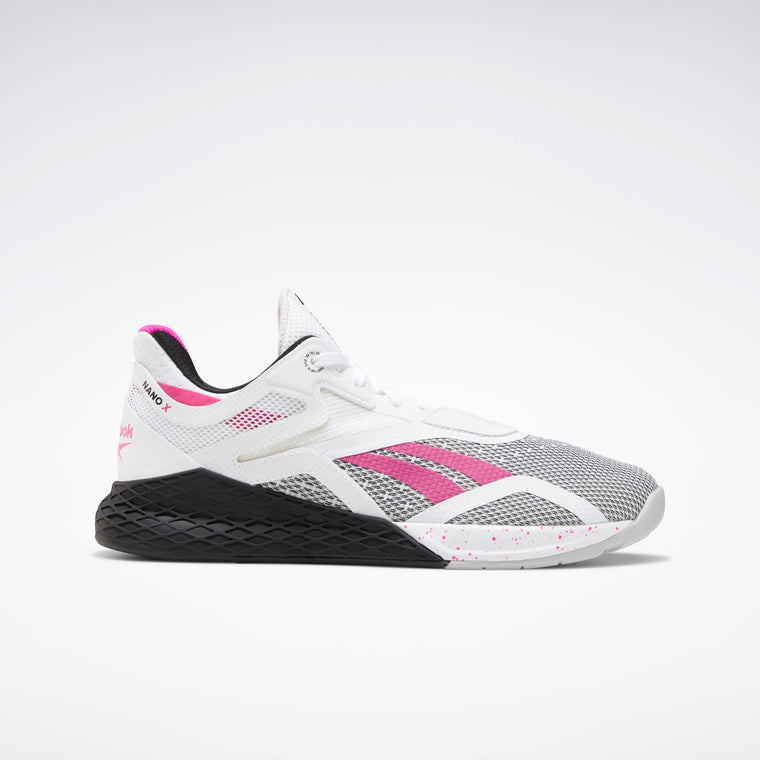 Reebok Women's Nano X Training Shoes - White/Black/Proud Pink