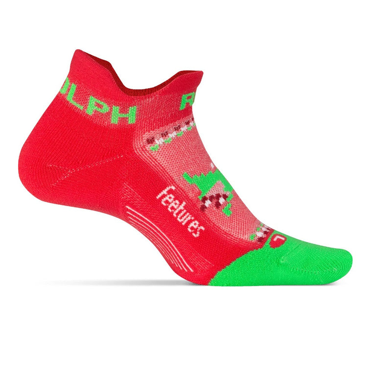 Feetures Elite Light Cushion No Show Tab - Limited Edition Run Rudolph Red