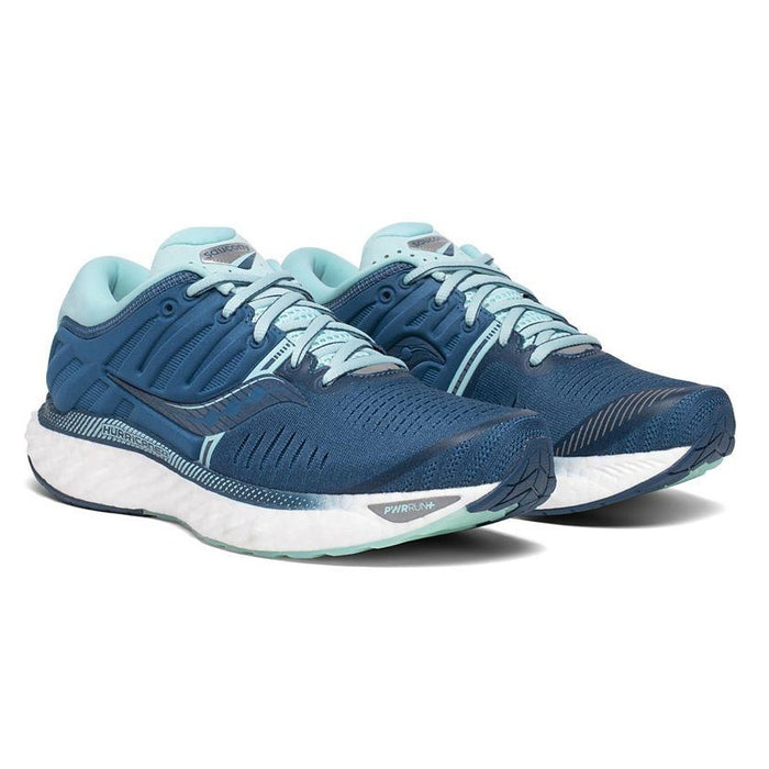 Saucony Women's Hurricane 22 Wide Running Shoe - Blue/Aqua