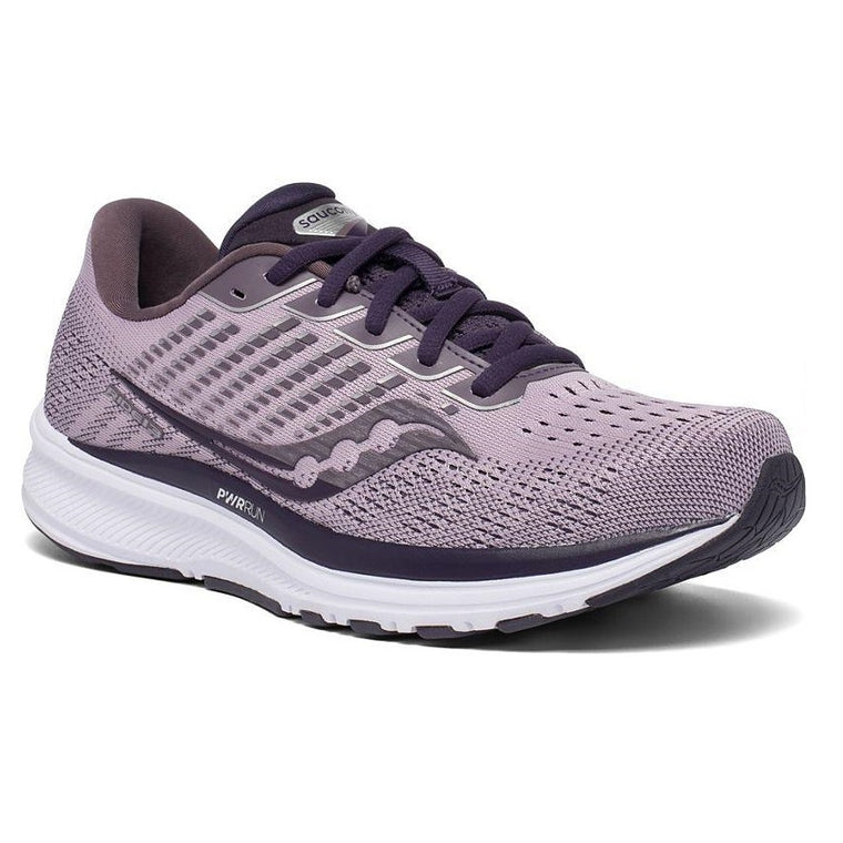 Saucony Women's Ride 13 Wide Running Shoe - Blush/Dusk