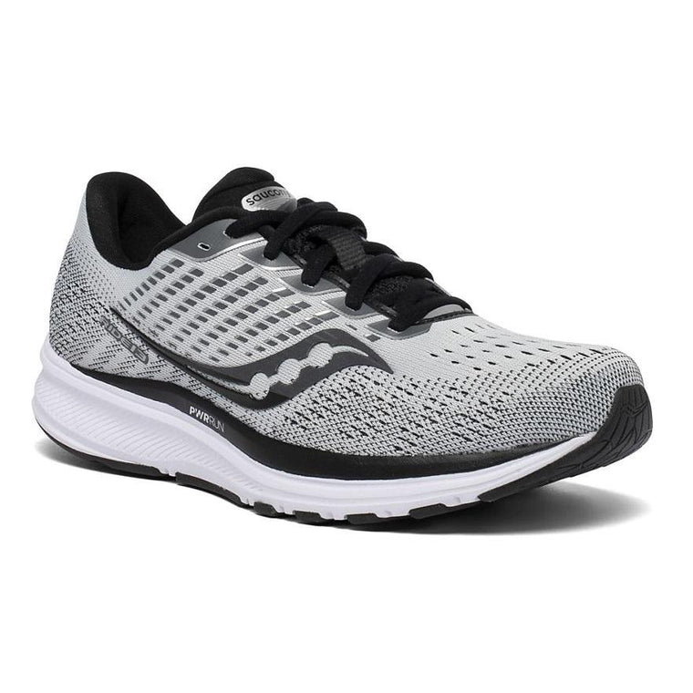 Saucony Women's Ride 13 Wide Running Shoe - Alloy/Black